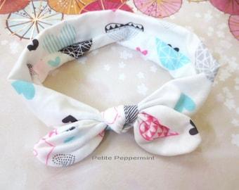 White Baby Headband, Baby Knot Headband, Top knot baby head band, Baby wrap bow, tie knot baby headband, baby head wrap,baby turban
