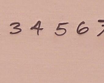 Metal Stamp Set Numbers 0-9 in Bradley Font- Professional Series- Number Set-Metal Stamps-3mm-Steel Stamp-