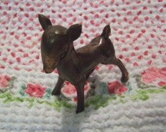little copper fawn figurine