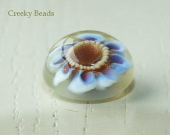 Handmade Lampwork Interchangeable Ring Topper - Creeky Beads SRA