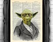 Star Wars Yoda Poster GEEKERY Decor, Star Wars POSTER, Geeky Art Geek Wall Art, Victorian Yoda Art Print Wall Decor Star Wars art print 013