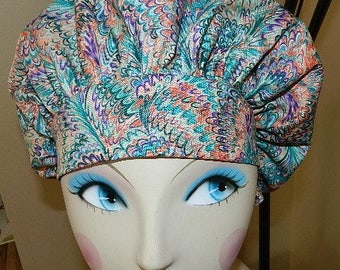 Rainbow Wings Banded Bouffant Surgical Cap by Nurseheadwear  LAST ONE