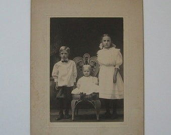 ON SALE Victorian Photograph Portrait Siblings Frankenmuth Minnesota William Stromer Collectible Family
