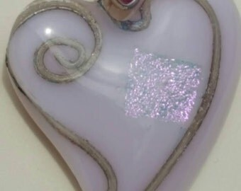 Pastel pink heart with a silver lining