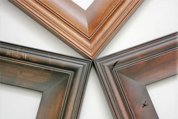 Sizes 8x10 to 12x12 picture frame knotty alder wood for Bungalow style picture frames