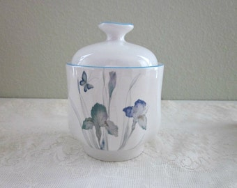 Vintage Sango Sugar Bowl, 5306 Atrium   Joan Luntz Iris Covered Sugar Bowl    Collectible