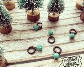 tiny turquoise add-on bead for #TheAdoptShoppeChristmasCollection necklaces
