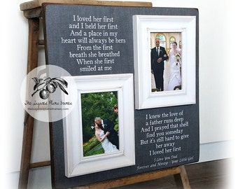 Father of the Bride Gift, Daughter to Father Gift, Father of the Bride Frame, I Loved Her First, 16x16 The Sugared Plums Frames