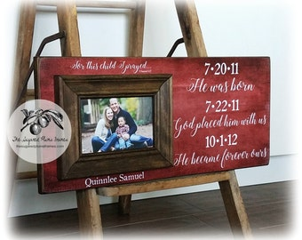 Adoption Gifts, Adoption Frame, Personalized Picture Frame, 8x20 The Sugared Plums Frames