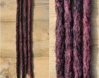 Red and Black Clip in Crochet Synthetic Dreads