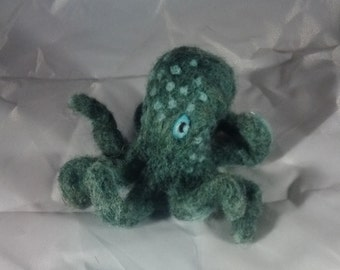 Octopus figure - Needle felt cephalopod