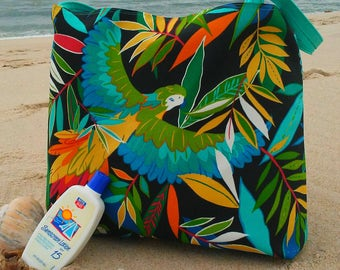 NEW Parrot Beach Bag-Large Beach Bag-Tote-Indoor Outdoor-Tote