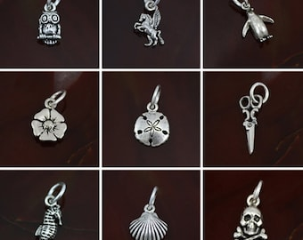 Small Sterling Silver Charm Options #4