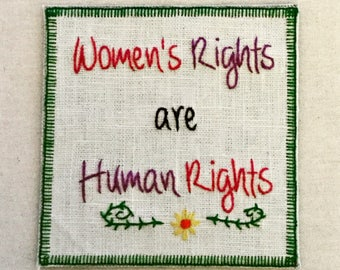 Women's Rights are Human Rights sew-on patch