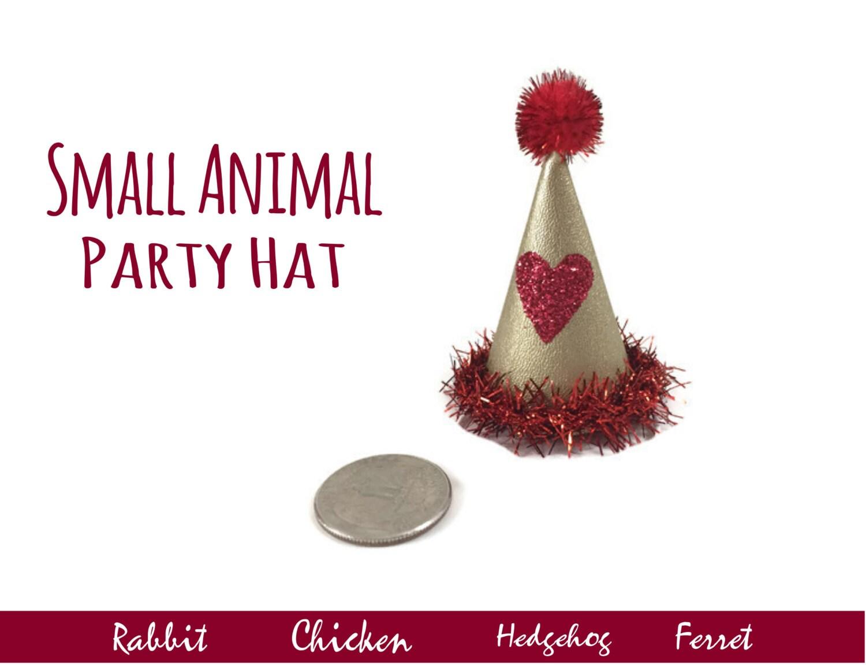 Chicken Valentine's Day Hat Hedgehog Hearts Hat Small