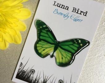 Butterfly Effect Brooch, Green (GB25) by Luna Bird for the 1200 Butterfly Wall at Butterfly Effect Exhibition