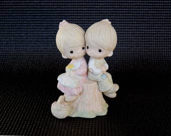 "Vintage Jonathan and David ""Love One Another"" cake topper circa 1976 Jonathan & David Enesco figurine"