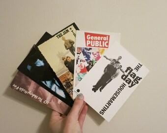 Postcards vintage record store promo 80s British bands Housemartins U2 The Jam Timbuk 3 General Public