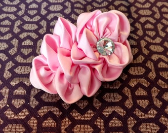 Olivia clip in bow pink
