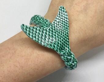 Enticing aqua blue mermaid mystery braid wrap bracelet- beach summer accessory