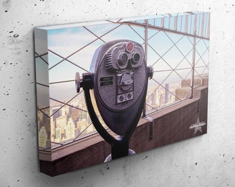 NYC Canvas Wrap, Gallery Wrap Photo, NYC Photography, Skyline at Sunset, Empire State Building, NYC Home Decor, Canvas Any Size