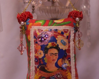 Frida, Kahlo, Pillow ,Hanging Ornament, Mexican Boho