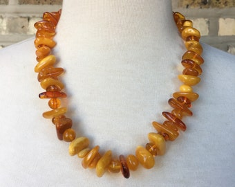 Faux Amber Necklace (Beaded)