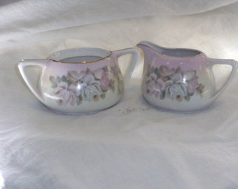 Vintage Prussia Sugar and Creamer