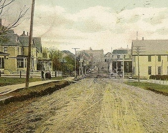 Bridge Street SACKVILLE New Brunswick 1908 Antique Postcard