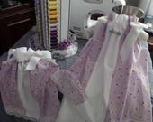 SPECIAL ORDER for Brittney:  Two pr white capri length pants to coordinate with lavender dresses