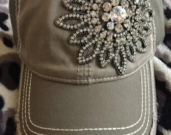 Baseball caps-women's caps-bling baseball hat-low profile caps-trucker caps-rhinestone caps-hats-bling caps