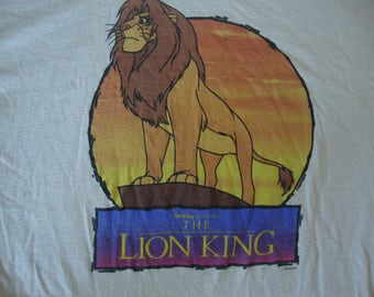 Vintage 90's Walt Disney The Lion King 1994 Movie Promo T Shirt Adult size XL