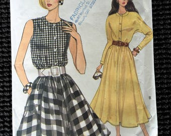 Vintage Easy Vogue 8288 Misses Dress Sewing Pattern Size 12-16 UNCUT