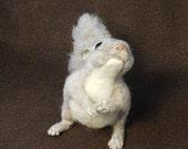 Momonga (Japanese Flying Squirrel) Life-sized Needle Felted Brooch on Magnet