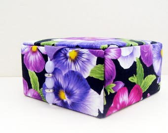 jewelry box, keepsake box, decorative storage box, memory box, trinket box, jewellery box, purple storage box