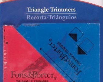 FONS and PORTER Triangle Trimmer 1/2 Square Inch by 1/4 Square Inch 2 Count
