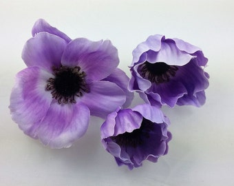 Lot of 3 Assorted Anemone - Lilac