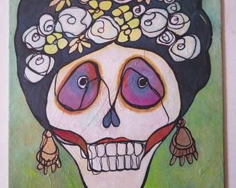 Sugar Sugar Lupita-  original acrylic painting 11x14