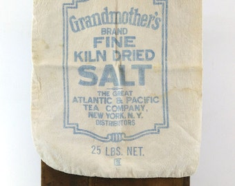 Grandmother's Brand Salt Sack / Pantry Bag / Vintage Sundries