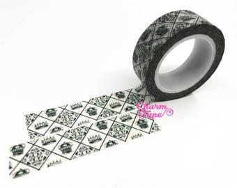 Crown diamond pattern Washi Masking Tape 15mm x 10m WT378