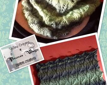 Knitting Pattern for Welsh Leaves Cowl
