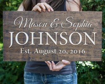 Family Name Sign | Wedding Sign | Wedding Couple Sign |  Last Name Sign | Last Name Wedding Sign |  Name Sign Wedding   | Wedding Gift Sign