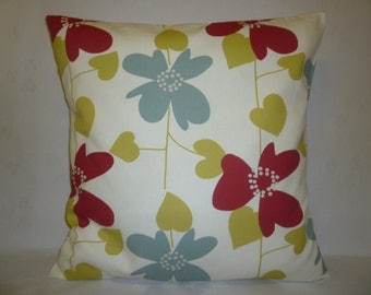 """4 Pillow Covers Red Blue Green Mix Match Designer Cushion Covers Shams Slips Decorative Sofa 16"""" (40cm)"""