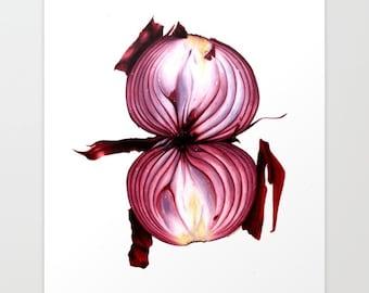 Red Onion Print