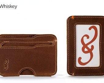 The Slim Wallet - Whiskey | Mens Wallet, Card Wallet, Mens Leather Wallet