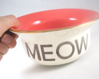 CUSTOM CAT BOWL -2 sizes and 14 color options - housewarming gift, gift for pet birthday, new adopted cat, cat lover gift, gift for cat mom