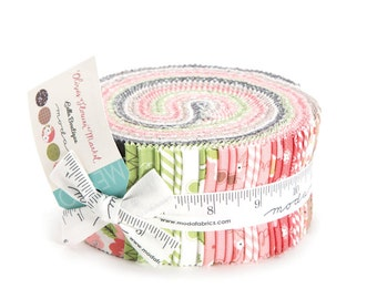 Olive's Flower Market - Jelly Roll by Lella Boutique for Moda Fabrics