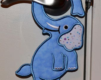 Blue Elephant Door Hanger