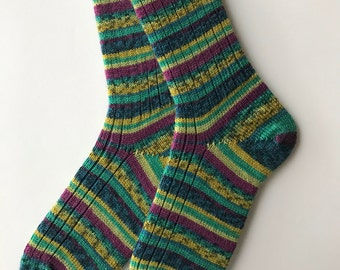 "Ladies'  Wool Sock , ""Lana Grossa"" Merino, Hand Cranked"