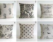 Linen Pillow Cover, Natural Pillow Cover, Pillow Slip, 10x10 Pillow Sham, Cushion Cover, Throw Pillow Cover - Linen Collection